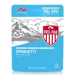 MOUNTAIN HOUSE Spaghetti with Meat Sauce Pro-Pak Freeze-Dried Meal