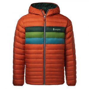 COTOPAXI Men's Fuego Down Hoody, Cayenne Stripes