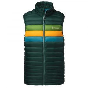 COTOPAXI Men's Fuego Down Vest, Dark Forest Stripes
