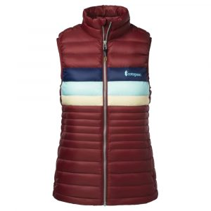 COTOPAXI Women's Fuego Down Vest, Port Stripes