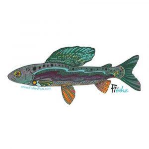 FISHE Groovy Grayling Sticker