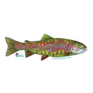 FISHE Troutrageous Rainbow Sticker
