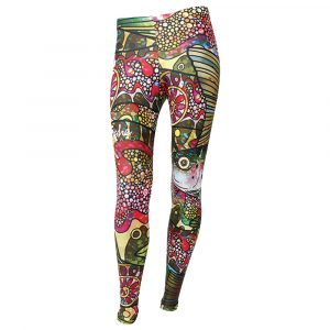 FISHE Women's Troutrageous Rainbow Leggings