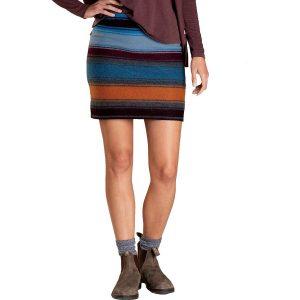 TOAD & CO. Women's Heartfelt Merino Sweater Skirt, Ox Blue Stripe