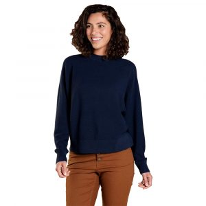 TOAD & CO. Women's Lily Mock Neck Sweater, True Navy