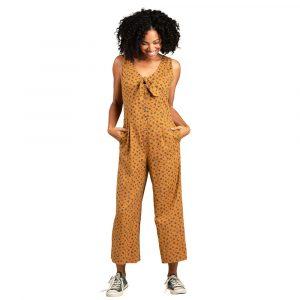 TOAD & CO. Women's Taj Hemp Sleeveless Jumpsuit, Palomino Dogwood Print