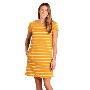TOAD & CO. Women's Windmere II Short-Sleeved Dress, Gooseberry Wide Stripe